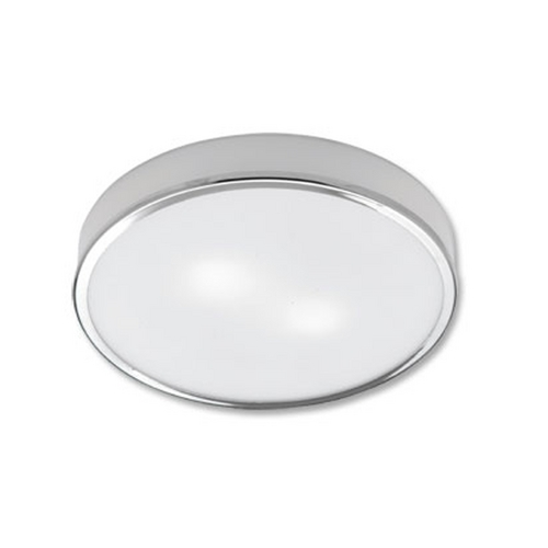 Maxilite Lighting Modern Flushmount Light with White Glass in Chrome Finish MX 3525-11