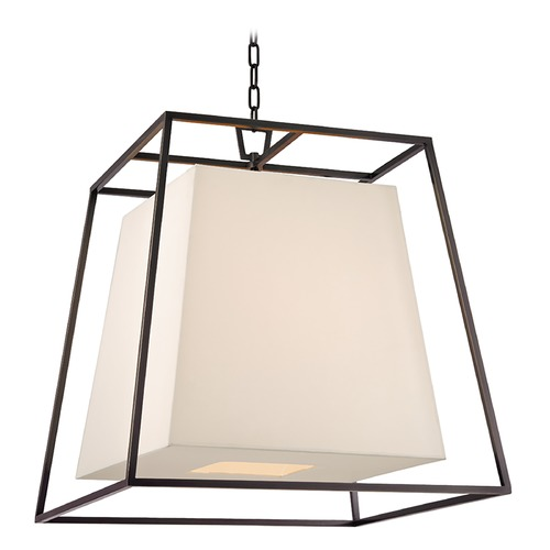 Hudson Valley Lighting Kyle 6 Light Pendant Light Square Shade - Old Bronze 6924-OB-WS