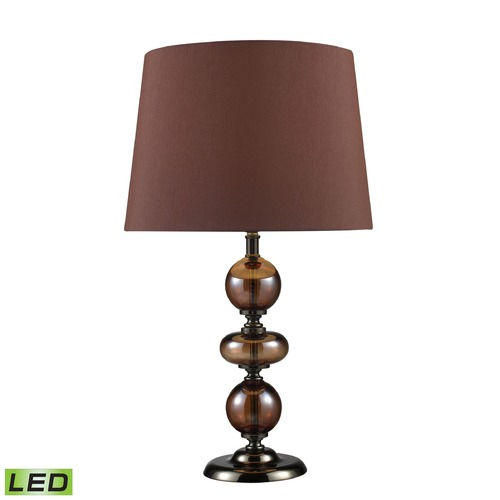 Dimond Lighting Dimond Lighting Bronze, Coffee Plating LED Table Lamp with Empire Shade D1606-LED