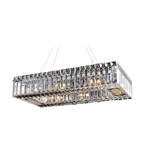 Allegri Lighting Baguette 22in x 12in Rectangular Pendant 11707-010-FR001