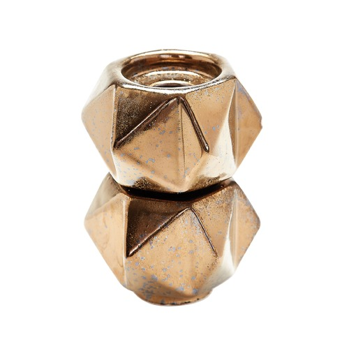 Dimond Home Small Ceramic Star Candle Holders - Gold. Set Of 2 857131/S2
