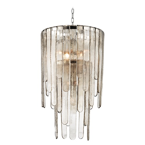 Hudson Valley Lighting Hudson Valley Lighting Fenwater Polished Nickel Pendant Light with Cylindrical Shade 9418-PN