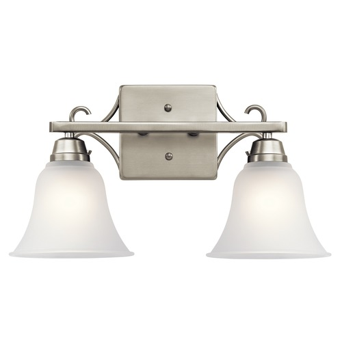 Kichler Lighting Kichler Lighting Bixler Brushed Nickel Bathroom Light 45939NI