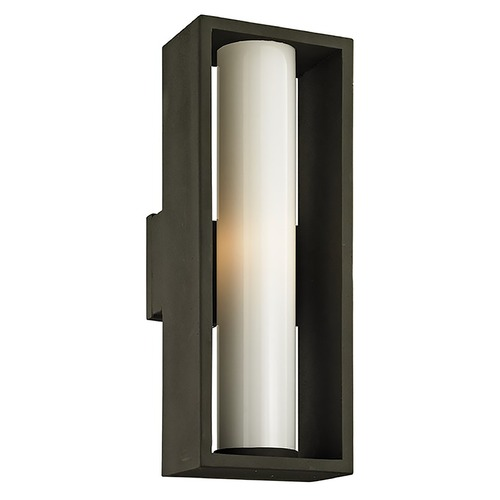 Troy Lighting Troy Lighting Mondrian Textured Bronze Outdoor Wall Light B6493
