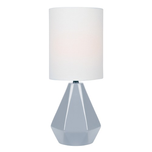 Lite Source Lighting Lite Source Mason Grey Table Lamp with Cylindrical Shade LS-23204GREY