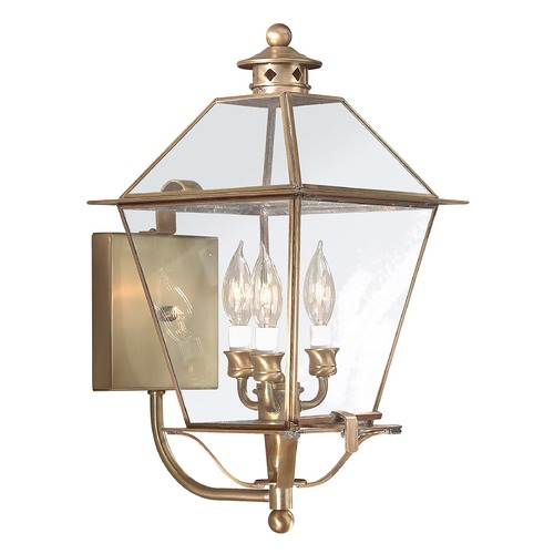 Troy Lighting Outdoor Wall Light with Clear Glass in Charred Iron Finish B8954CI
