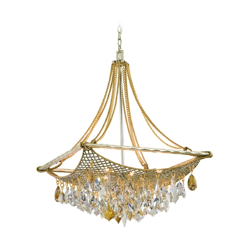 Corbett Lighting Corbett Lighting Barcelona Silver and Gold Leaf Island Light 125-48