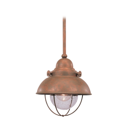 Sea Gull Lighting Marine / Nautical Mini-Pendant Light Copper Sebring by Sea Gull Lighting 6150-44