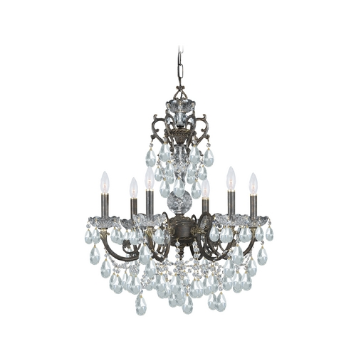 Crystorama Lighting Crystal Chandelier in English Bronze Finish 5196-EB-CL-MWP