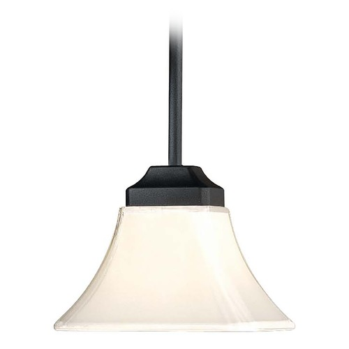 Minka Lighting Mini-Pendant Light with White Glass 1811-66