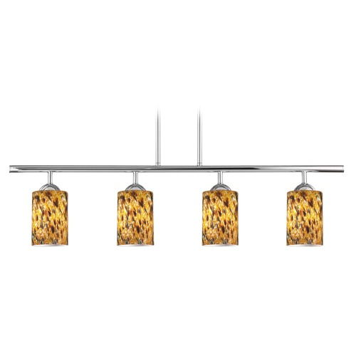 Design Classics Lighting Design Classics Axel Fuse Chrome Island Light with Cylindrical Shade 718-26 GL1005C