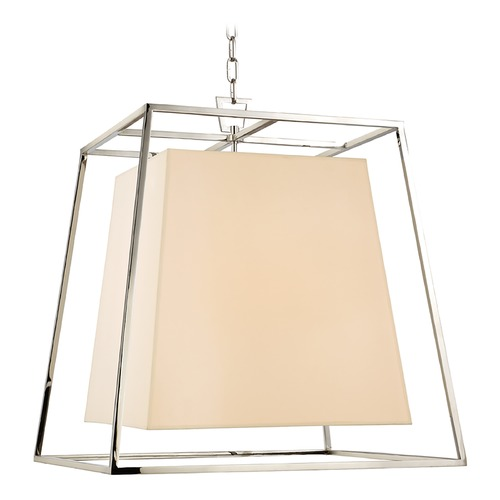 Hudson Valley Lighting Kyle 6 Light Pendant Light Square Shade - Polished Nickel 6924-PN
