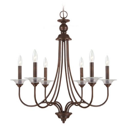 Sea Gull Lighting Chandelier in Burnt Sienna Finish 31318-710