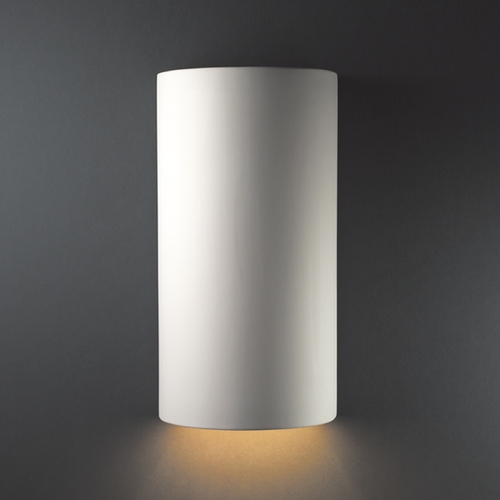 Justice Design Group Sconce Wall Light in Bisque Finish CER-1160-BIS