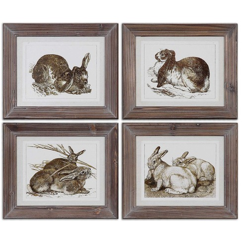 Uttermost Lighting Uttermost Regal Rabbits Framed Art 41392