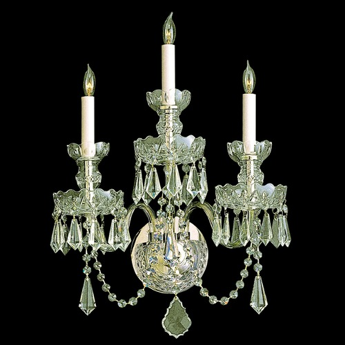 Crystorama Lighting Crystorama Lighting Traditional Crystal Polished Brass Sconce 5023-PB-CL-S
