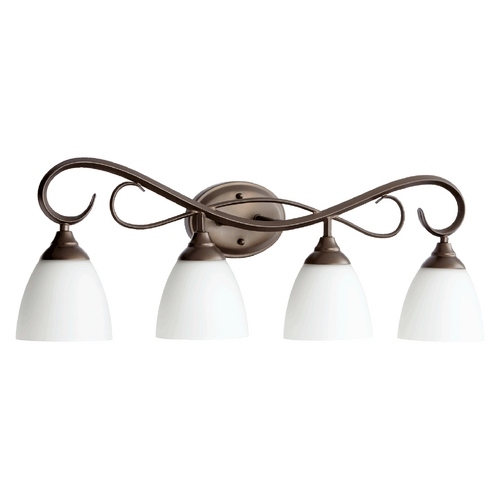 Quorum Lighting Quorum Lighting Powell Oiled Bronze Bathroom Light 5108-4-86