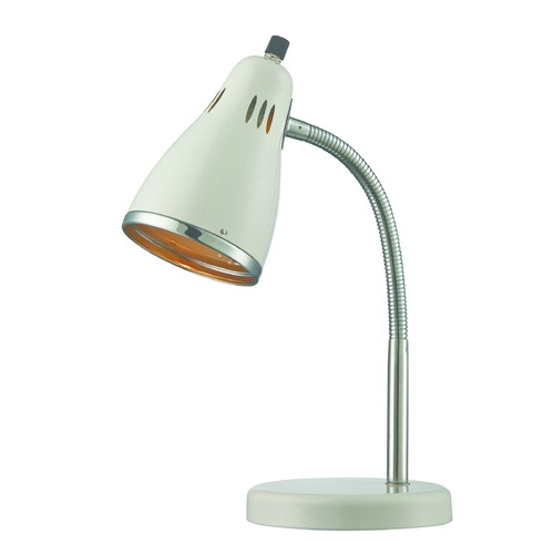Lite Source Lighting Lite Source Kris Chrome / White Desk Lamp LS-22535WHT