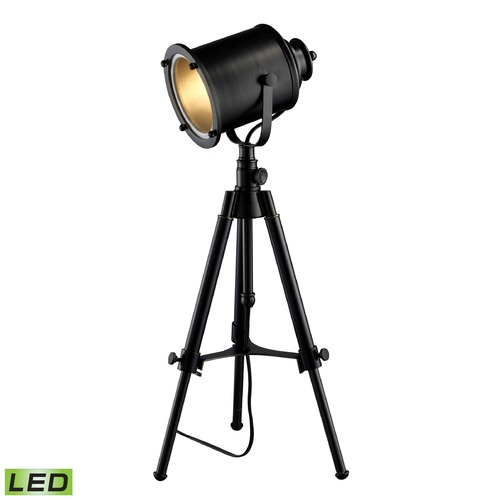 Dimond Lighting Dimond Lighting Restoration Black LED Table Lamp with Cylindrical Shade D1734-LED