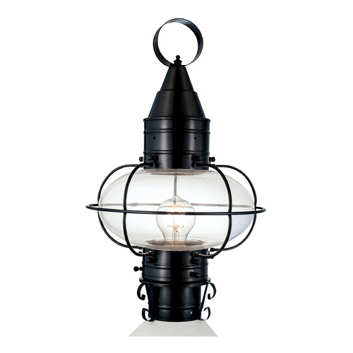 Norwell Lighting Norwell Lighting Classic Onion Black Post Light 1511-BL-CL