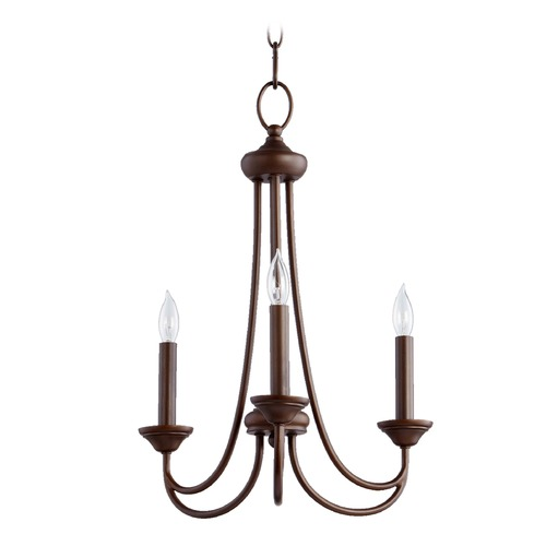 Quorum Lighting Quorum Lighting Brooks Oiled Bronze Mini-Chandelier 6250-3-86
