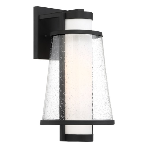 Nuvo Lighting Satco Lighting Anau Matte Black Outdoor Wall Light 60/6602