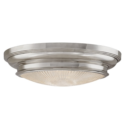 Hudson Valley Lighting Flushmount Light with Clear Glass in Polished Nickel Finish 7520-PN
