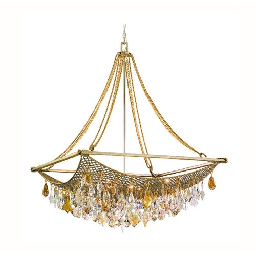 Corbett Lighting Corbett Lighting Barcelona Silver and Gold Leaf Island Light 125-49