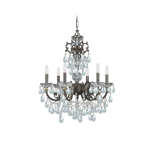 Crystorama Lighting Crystal Chandelier in English Bronze Finish 5196-EB-CL-S
