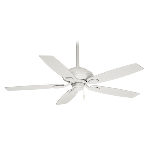 Casablanca Fan Co Casablanca Fan Utopian Snow White Ceiling Fan Without Light 54037