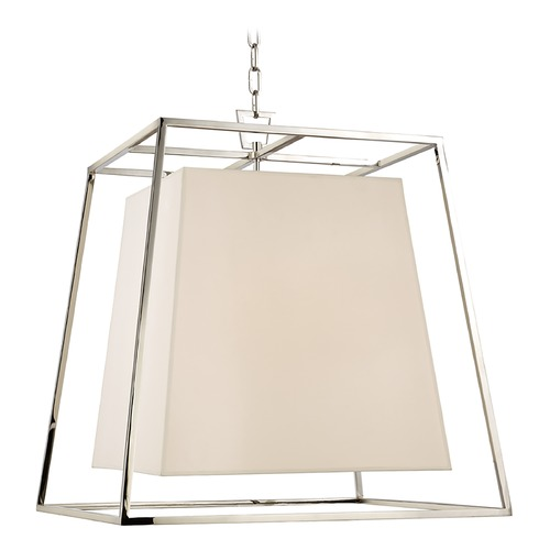 Hudson Valley Lighting Kyle 6 Light Pendant Light Square Shade - Polished Nickel 6924-PN-WS