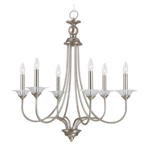 Sea Gull Lighting Chandelier in Antique Brushed Nickel Finish 31318-965