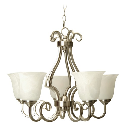 Jeremiah Lighting Jeremiah Cecilia Brushed Satin Nickel Chandelier 7124BN5
