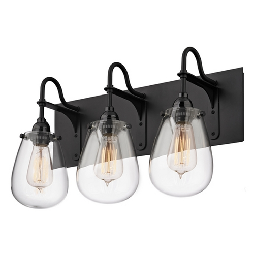 Sonneman Lighting Industrial Bathroom Light Black Chelsea by Sonneman Lighting 4288.25