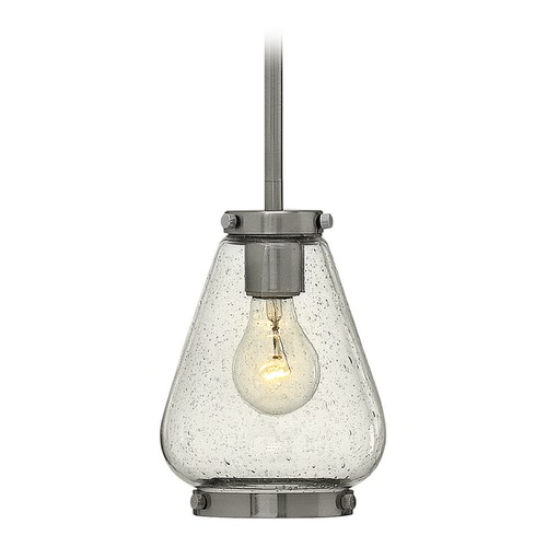 Hinkley Lighting Hinkley Lighting Finley Brushed Nickel Mini-Pendant Light with Urn Shade 3687BN
