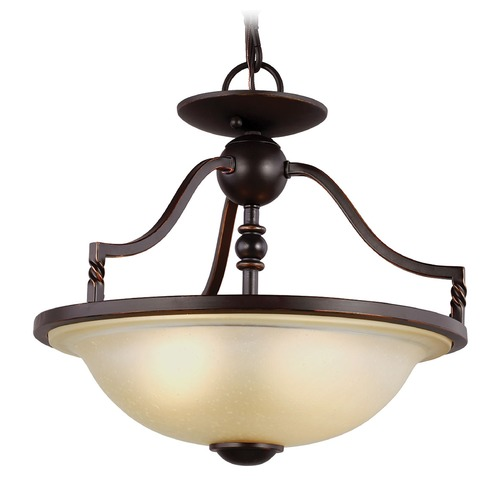 Sea Gull Lighting Sea Gull Lighting Trempealeau Roman Bronze Pendant Light with Bowl / Dome Shade 7710602-191
