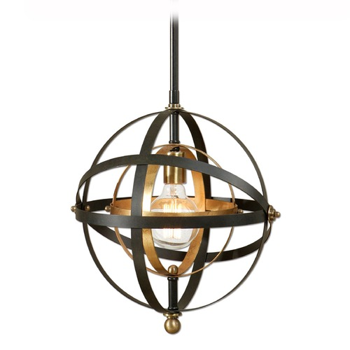 Uttermost Lighting Uttermost Rondure 1 Light Sphere Pendant 22039