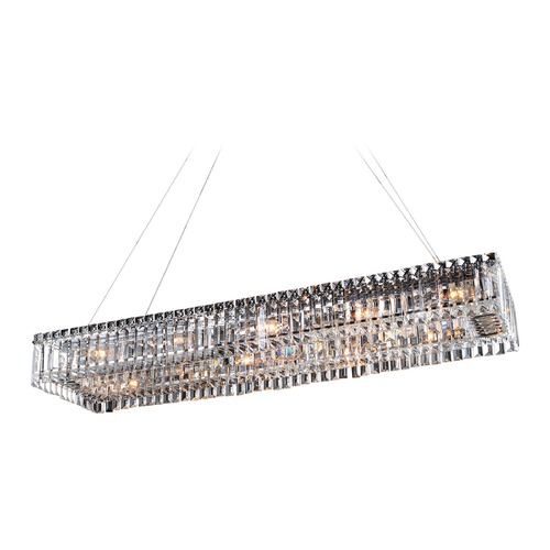Allegri Lighting Baguette 43in x 12in Rectangular Pendant 11709-010-FR001