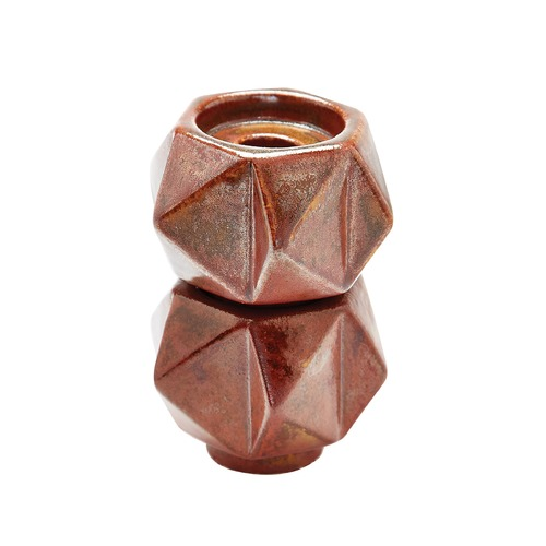 Dimond Lighting Small Ceramic Star Candle Holders - Russet. Set Of 2 857133/S2
