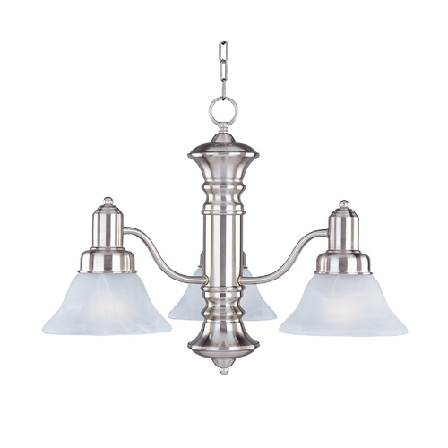 Maxim Lighting Maxim Lighting Newburg Satin Nickel Chandelier 20326MRSN