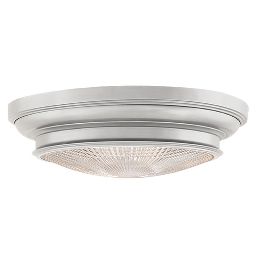 Hudson Valley Lighting Flushmount Light with Clear Glass in Satin Nickel Finish 7520-SN