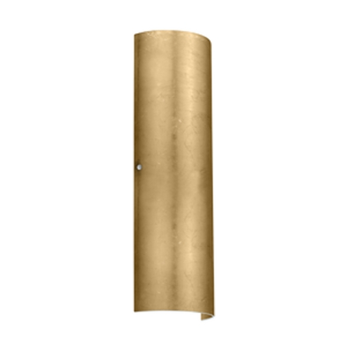 Besa Lighting Sconce Wall Light with Gold Glass in Satin Nickel Finish 8194GF-SN