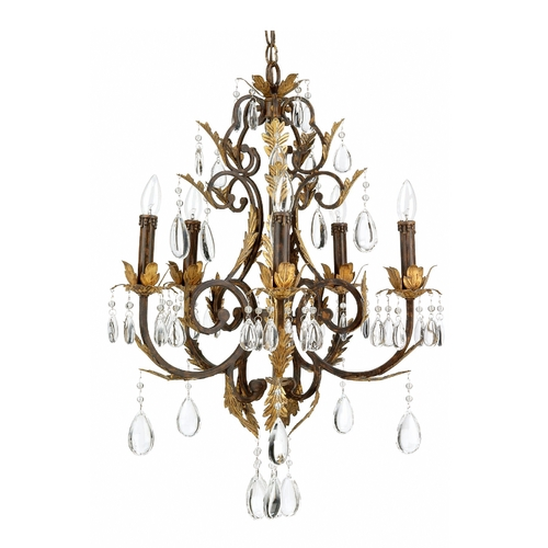 Lite Source Lighting Lite Source Lighting Stedim Antique Bronze Crystal Chandelier C790