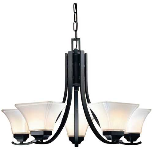 Minka Lavery Minka 5-Light Chandelier in Black 1815-66