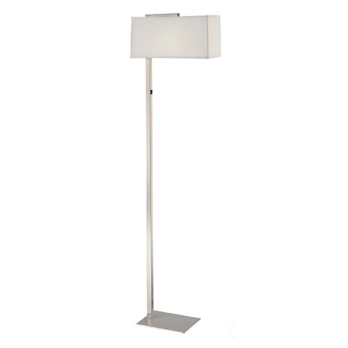 Design Classics Lighting Modern Floor Lamp with Rectangular Shade and LED Bulb 6091-1-09 / SH7355/10W LED