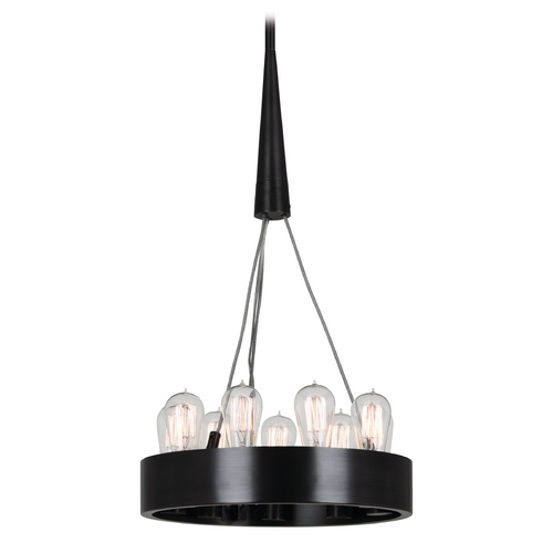 Robert Abbey Lighting Robert Abbey Rico Espinet Candelaria 9-Light Mini Chandelier in Deep Patina Bronze Z2102