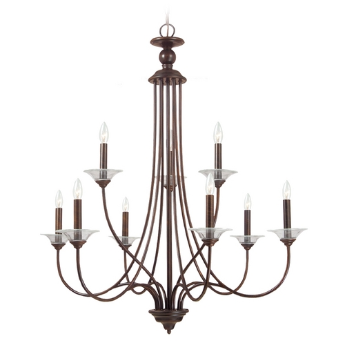 Sea Gull Lighting Chandelier in Burnt Sienna Finish 31319-710
