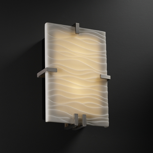 Justice Design Group Justice Design Group Porcelina Collection Sconce PNA-5551-WAVE-NCKL
