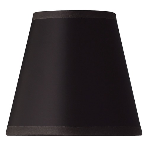 Hinkley Lighting Black Parchment Bell Lamp Shade with Clip-On Assembly 5122BK