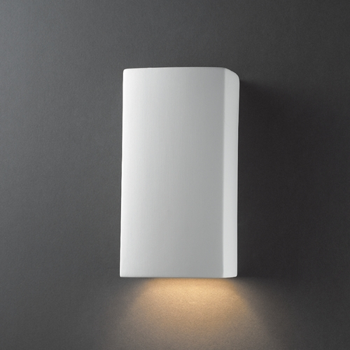 Justice Design Group Sconce Wall Light in Bisque Finish CER-0910-BIS